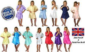 Children's Personalised Wedding Robe Dressing Gown Kids 17 Colours Flower Girl