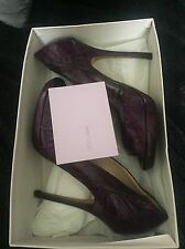 Jimmy Choo Shoes Size 4, High Heels, Purple, Leather