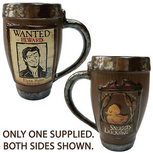 Disney Store Tangled Snuggly Duckling Flynn Rider Mug Tangled Wanted Poster 10th