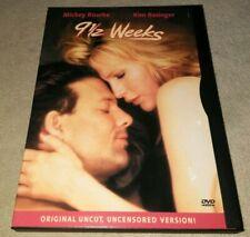 9 1/2 Weeks DVD 1986 Uncut Uncensored Version Mickey Rourke Kim basinger RARE