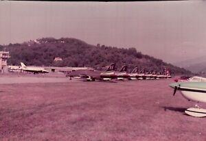FOTO ANNI '90 - FRECCE TRICOLORI ALL'AERPORTO DI VILLANOVA D'ALBENGA SV  C16-575