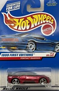 1999 Hotwheels First Editions #7 of 26 Red Pontiac Rageous Collector # 675