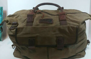 Duluth Trading Company leather  Canvas Sportsman  Duffel Bag
