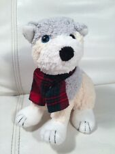 "1998 Commonwealth The Twelve Dogs Of Christmas 7"" Plush Tan Dog w/ Scarf"