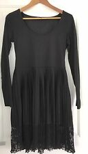 FRENCH CONNECTION WOMENS DRESS BLACK TRIM KNEE LENGHT WORK PARTY SZ 10