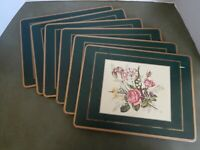 Pimpernel Floral Hardback Placemats--Set of 6