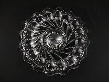 """RARE Duncan & Sons Beaded Swirl & Lens Footed Serving Plate 10 3/8"""""""