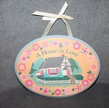 "Decorative Wood Plaque ""A Home is Love"" 9 3/8"" x 7"""