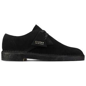 Clarks Originals Shoes - Men's Desert Khan Shoe - Black Suede