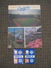 1973 Los Angeles Dodgers Scorecard Program-Vs. Chicago Cubs-Unscored-VG/VG+