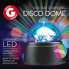Colour Changing Disco Dome LED Mirror Ball Tabletop Party Decoration Battery Op