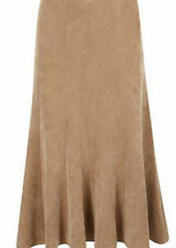 Knee Length Polyester Patternless Tall Skirts for Women