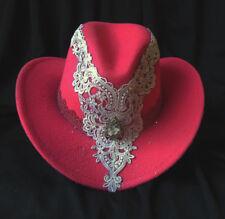 Deep ROSE Felt Cowboy Cowgirl SHOW HAT Rodeo Horse Show Dance