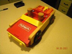 Vintage Playskool Toy Take Apart Car Wood & Plastic Incomplete
