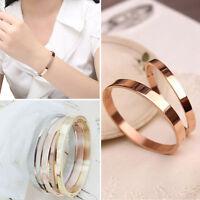 Titanium Steel Women Men Love Cuff Bangle Bracelet Fashion Jewelry Gift SH