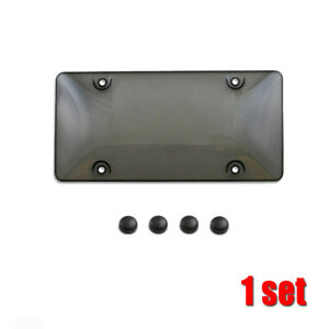 Universal Auto Car Clear Tinted License Plate Cover Smoked Bubble Shield Tag P