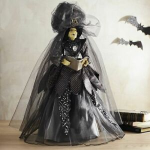 "PIER1 22"" HALLOWEEN  NOELLA NIGHTSHADE WITCH IN BLACK DRESS BNWT"