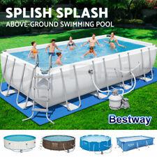 Bestway Swimming Pool Above Ground Pools Pump Sand Filter Steel Frame