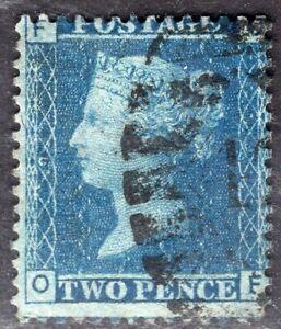 GB UK 1858/9 STAMP Sc. # 29 Pl. 9 USED 2p