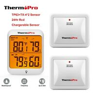 ThermoPro 2 Sensor  Digital Wireless Hygrometer Thermometer Hygrometer Humidity