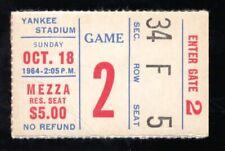 October 18, 1964 New York Giants Vs Philadelphia Eagles Ticket Stub 23-17 Philly