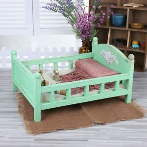 Childhood Durable Baby Photography Crib Detachable Lovely Wood Bed Gift Newborn