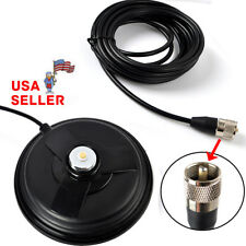 "NMO MAGNET ANTENNA MOUNT 6.1"" BASE PL-259 5M(16.4ft) RG58 CABLE MOBILE CAR RADIO"