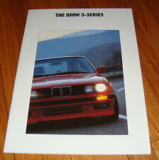 1991 BMW 3-Series Sales Brochure E30 318i 318is 325i 325iX