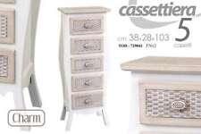 CASSETTIERA IN LEGNO CHARM 5 CASSETTI 38*28*103 CM TOD-729041