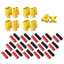 50x Paar 100 Stück XT30 STECKER BUCHSE Goldstecker Lipo Akku RC 30A Gelb XT 30