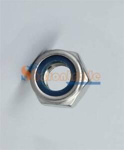 10 /20 /50 /100pcs Stainless Steel M2 M2.5 M3 M4 M5 M6 M10 Nylon Lock Nuts NEW