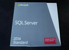 BRAND NEW SEALED Microsoft SQL Server 2014 Standard 10 Cal 228-10255 for Windows