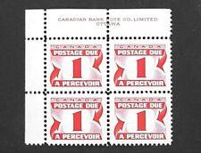 1969 Canada Postage Due Plate/Inscription Block J28 VF! CV $3.50