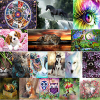 5D DIY Full Drill Diamond Painting Animals Cross Stitch Embroidery Kit Decor