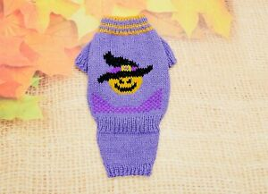 Halloween dog sweater Knitted sweater for small dog Handmade dog clothes
