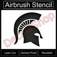 Spartan Spartans Helmet Reusable Airbrush Stencil Template 11x8.5 Free Shipping