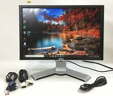 """DELL 2208WFPT 22"""" WIDESCREEN LCD MONITOR ADJUSTABLE SWIVEL STAND M413"""