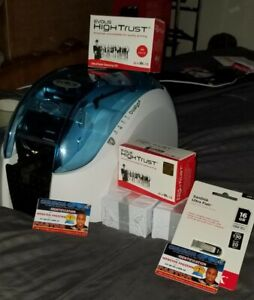 Evolis dualys 3 ID card  printer, excellent print quality plus accessories