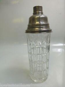 Vintage Hawkes Cut Crystal Martini Shaker