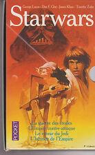 coffret STAR WARS 1 à 4 Guerre des Etoiles SF livre Pocket Lucas Glut Kahn Zahn