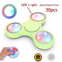 30PCS LED Light Button For Fidget Hand Spinner Torqbar Finger Toy EDC Focus Gyro
