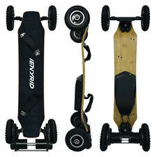 """3300W Motors 46"""" Off Road Electric Skateboard 25MPH &12.4 Miles Range Longboard"""