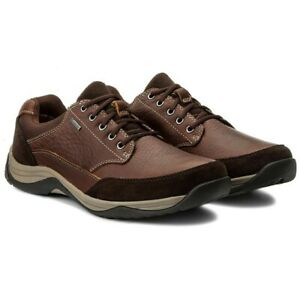 Clarks Baystone Go GTX Waterproof Mahogany Brown Leather Shoes UK 7.5 - 12 G Fit