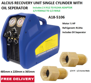 ALCIUS RECOVERY UNIT SINGLE CYLINDER WITH OIL SEPERATOR A18-4983, A18-5106