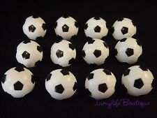 24 SOCCER Cupcake Ring Favor Supplies Rings Topper Birthday Sports