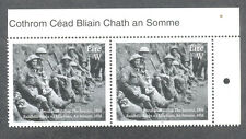 Ireland-The Somme-World War I mnh pair.Military-soldiers-1916-2016