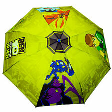 Ben 10 Kids Umbrella Perletti Ultimate Alien Boys Brolly Rain Childrens Green