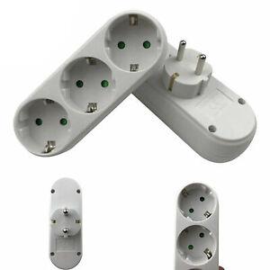 Triple Plug, Multiple Plug, Sockets, Adapter, Distributor, Multi-Plug Connector