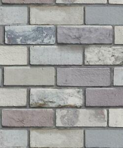 Arthouse Industrial Style 3D Effect Grey Brick Wallpaper - 698800
