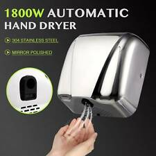 1800W Stainless Steel Automatic Electric Hand Dryer Machine Commercial Bathroom